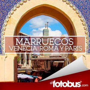 Marruecos, Barcelona, Italia y Venecia Q20,000